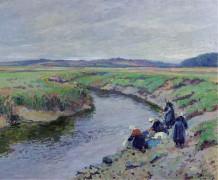 Прачки на берегу реки, 1910 - Мадлин, Поль