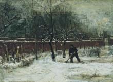 Сад у дома приходского священника в снегу (The Parsonage Garden at Nuenen in the Snow), 1885 - Гог, Винсент ван