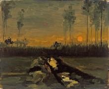 Сумеречный пейзаж (Landscape at Dusk), 1885 - Гог, Винсент ван