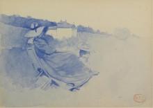 Побережье возле Ле-Лаванду с сидящей женщиной - Кросс, Анри Эдмон