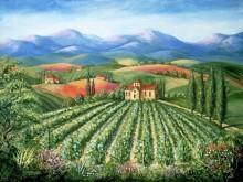 Тоскана, аббатство с виноградником - Данлап, Мэрилин (20 век)