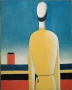 Фигура в желтой рубахе - Малевич, Казимир