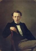 Перов. Автопортрет.1851 - Перов, Василий Григорьевич