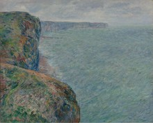 Вид на море со скалы, 1881 - Моне, Клод