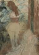 Одевающаяся танцовщица, 1889 - Дега, Эдгар