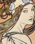 Женщина в косынке - Муха, Альфонс
