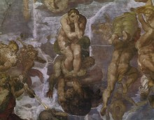 Страшный суд (фрагмент) - Микеланджело Буонарроти