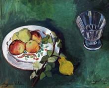 Натюрморт с фруктами и рюмкой - Валадон, Сюзанна