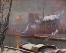 Набережная Турнеля на закате зимой - Павль, Эли Анатоль