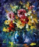 Сюрреалистичные цветы - Афремов, Леонид (20 век)