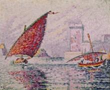 Порт Сен-Жан, Марсель, рыбацкие лодки - Синьяк, Поль