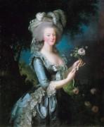 Королева Франции Мария-Антуанетта с розой - Виже-Лебрён, Мари Элизабет Луиза