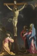 Христос на кресте, с Девой и святыми - Лесюэр, Эсташ