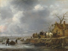 Замерзшая река. Последователь Исаака ван Остаде