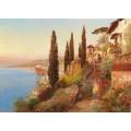 Пейзаж с видом на Позиллипо близ Неаполя - Арнеггер, Алоис