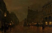 Площадь святой Анны и биржа в Манчестере - Гримшоу, Джон Аткинсон