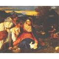 Мадонна с кроликом, 1530 - Тициан Вечеллио