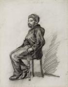 Сидящий мужчина с бородой (Seated Man with a Beard), 1886 - Гог, Винсент ван