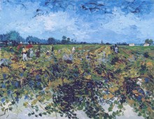 Зеленые виноградники (The Green Vineyard), 1888 - Гог, Винсент ван