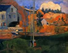 Бретонский пейзаж, 1894 - Гоген, Поль