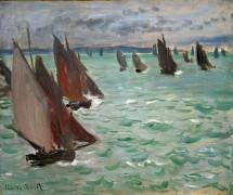 Парусные лодки в море - Моне, Клод