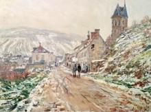 Дорога в Ветёй, зима - Моне, Клод