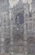 Кафедральный собор в Руане в пасмурную погоду - Моне, Клод
