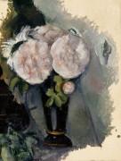 Цветы в синей вазе - Сезанн, Поль