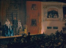 Гимназиский театр в Париже - Менцель, Адольф фон