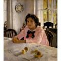 Девочка с персиками. Портрет В.С.Мамонтовой - Серов,  Валентин Александрович