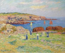 Стога в порту Доэлан, 1908 - Море, Анри
