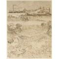 Арль - вид с пшеничных полей (Arles - View from the Wheat Fields), 1888 02 - Гог, Винсент ван
