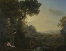 Пейзаж с Нарциссом и Эхо - Лоррен, Клод (Желле)
