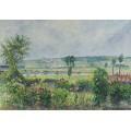 Долина у Сены возле дамбы, сад Октава Мирбо, 1892 - Писсарро, Камиль