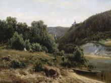 У монастыря, 1870 - Шишкин, Иван Иванович
