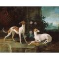 Мисс и Тюрлю, борзые короля Людовика XV - Удри, Жан-Батист