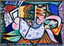 Лежащая женщина - Пикассо, Пабло