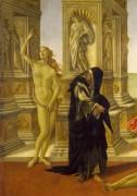 Клевета (фрагмент - Нагая и кающаяся истины) - Боттичелли, Сандро
