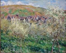 Цветущие сливовые деревья - Моне, Клод