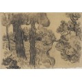 Сосны вдоль дороги (Pine Trees along a Path), 1889 - Гог, Винсент ван