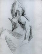 Сидящая женщина, 1908 - Пикассо, Пабло