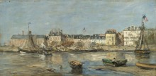 Трувиль, порт, 1880-85 - Буден, Эжен
