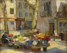Цветочный рынок -  Лапшин, Георгий Александрович