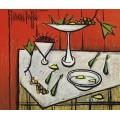 Натюрморт на красном фоне II - Бюффе, Бернар