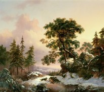 Зимний пейзаж с волками - Круземан, Фредерик Маринус