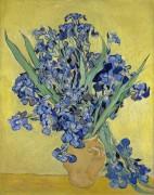 Ваза с ирисами на желтом фоне (Still Life with Irises), 1890 - Гог, Винсент ван