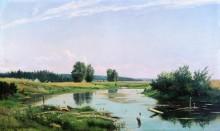 Пейзаж с озером, 1886 - Шишкин, Иван Иванович