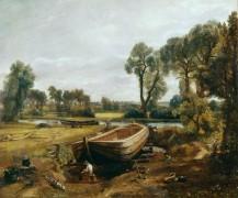 Строительство лодки близ флэтфордской мельницы - Констебль, Джон