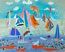 Море и яхты - Дюфи, Рауль