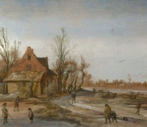 Зимний пейзаж - Вельде, Эсайас ван де